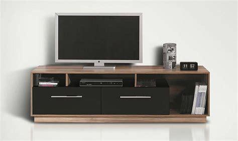 Meuble Tv Bas Meuble Tl Design Noir Et Noyer Pas Cher
