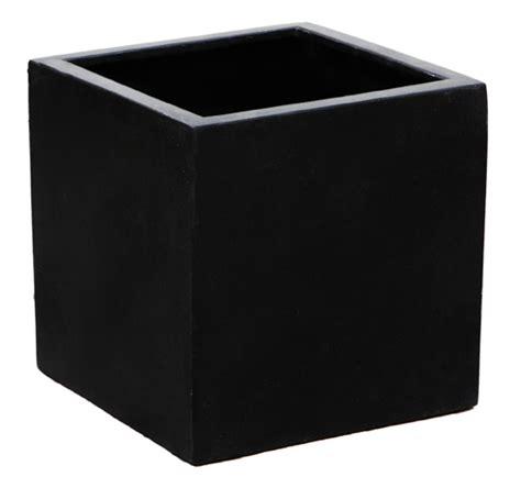 polystone pflanzkübel 252 bertopf quadratisch schwarz bestseller shop
