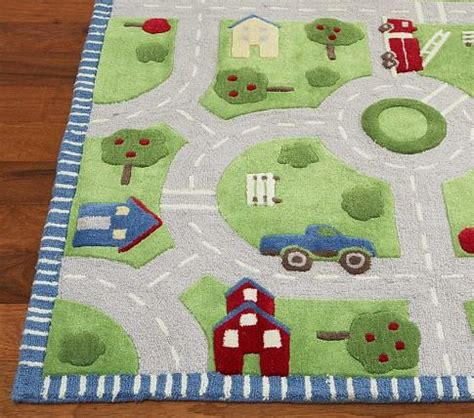 childrens rugs with roads play in the park rug pottery barn