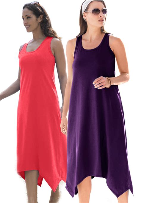 sold out sale sharktail hem grape jam purple or ruby or plus size tank dress coverup 4x 30 32