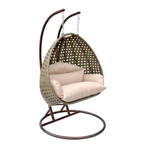 Basket Swing Chair by 2 Person Wicker Egg Basket Swing Chair Patio Outdoor