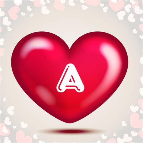 write   alphabet  heart greeting card