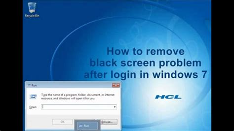 Asus Laptop Black Screen After Windows 10 how to fix black screen after login in windows 7 explorer exe using regedit