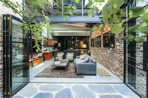 narrow dwelling in toronto converted into bright family contemporist a garage was converted into this comfortable