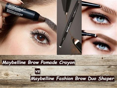 Maybelline Eyebrow Pomade maybelline fashion brow pomade crayon review philippines