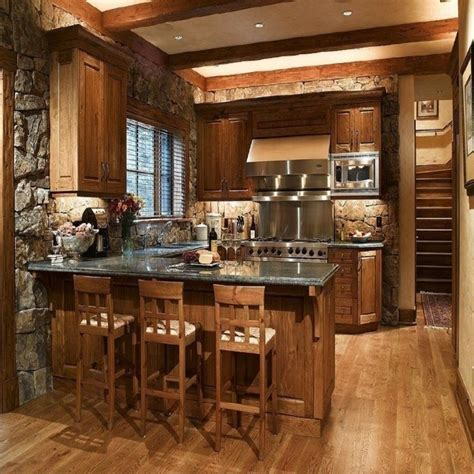 rustic kitchen decor ideas 1000 ideas about small rustic kitchens on pinterest small cabin interiors cabin interiors