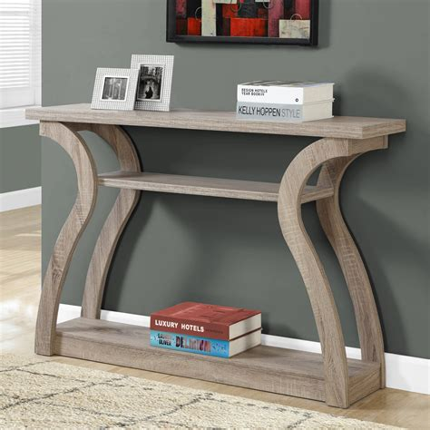 monarch console table monarch specialties 3 tiered curved console table
