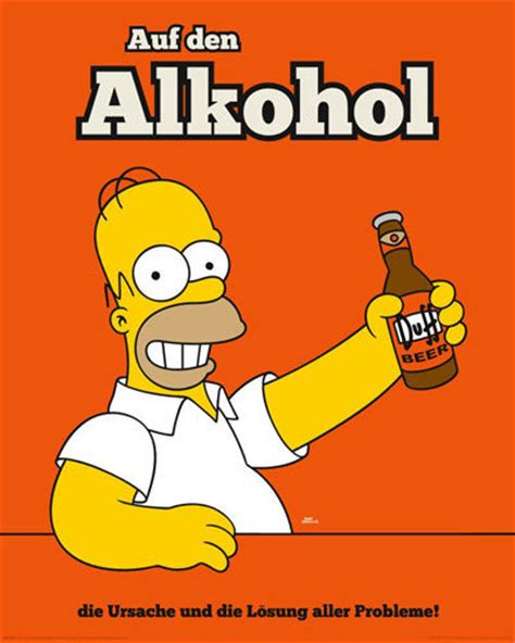 simpsons homer alkohol poster sold at europosters