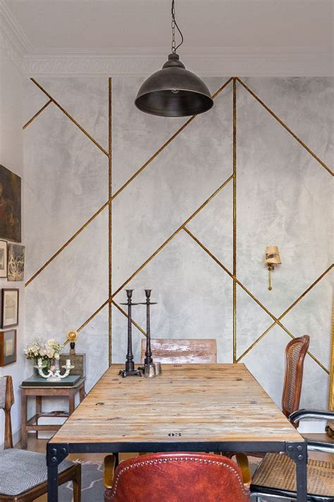 geometric concrete  coordonne gold mural