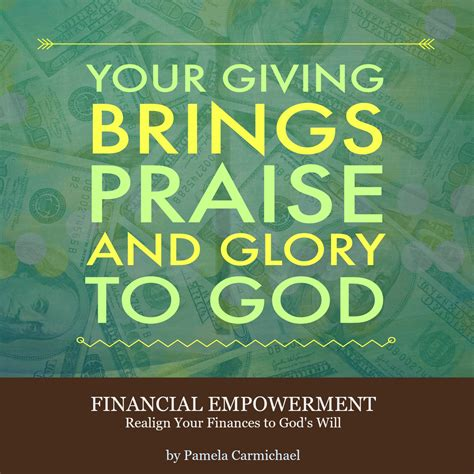 giving brings praise  glory  god living success