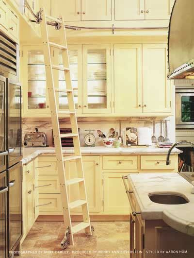 library ladder in kitchen stylefile 35 ladders nibs