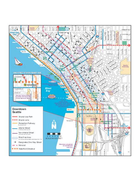 seattle map pdf downtown seattle bikeways map seattle wa mappery