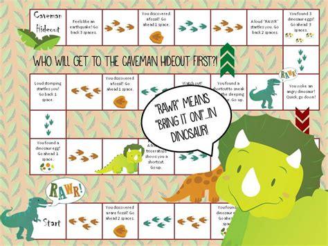 printable dinosaur games printable dinosaur board game