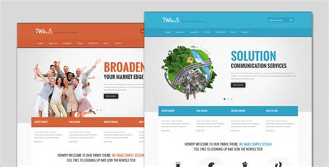 themes wordpress envato twins corporate business wordpress theme by