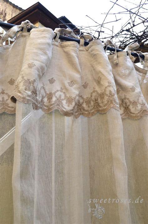 vorhang 250 lang aurelie 140x250 cm gardine vorhang schal stickerei shabby