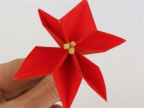 Origami Poinsettia - planetjune by june gilbank 187 origami poinsettia