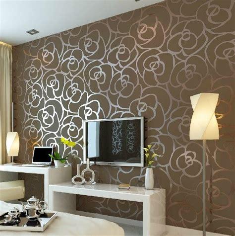 Luxury Flocking Textured Wallpaper Modern Wall Paper Roll | luxury flocking textured wallpaper modern wall paper roll