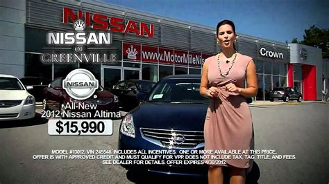 crown nissan of greenville nissan of greenville april 2012 altima crown nissan