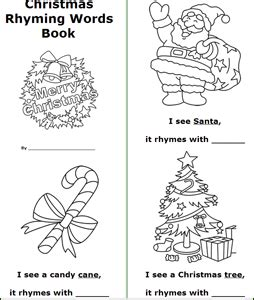 rhyming christmas trees christmas tree template free printable color word booklets coloring page