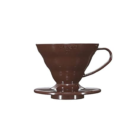 Hario V60 Dripper 01 Vd 01 Plastic hario v60 plastic coffee dripper brown 01 vd 01cbr