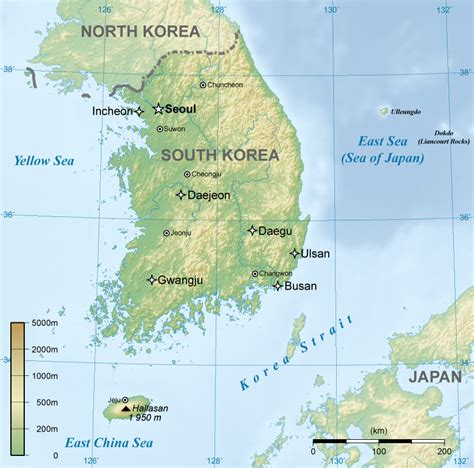 south korea file general map of south korea png wikimedia commons