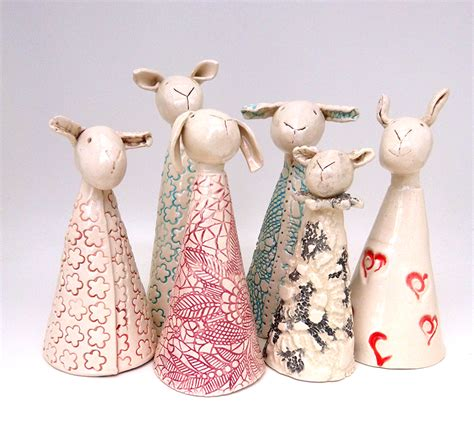 Handmade Ceramic Decorations - lubilou handmade ceramics ceramic sheep ceramic