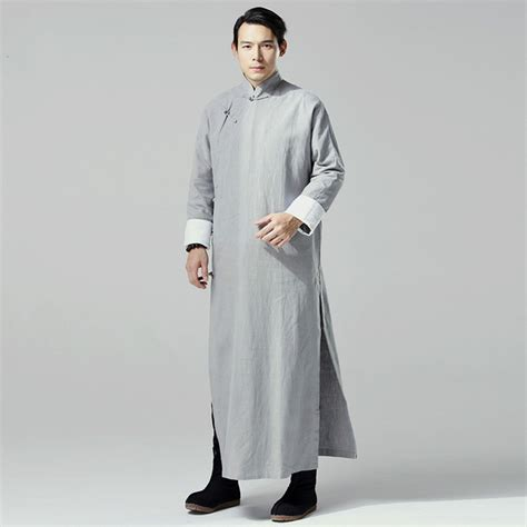 new year traditional clothing name traditional dress linen robes black gray