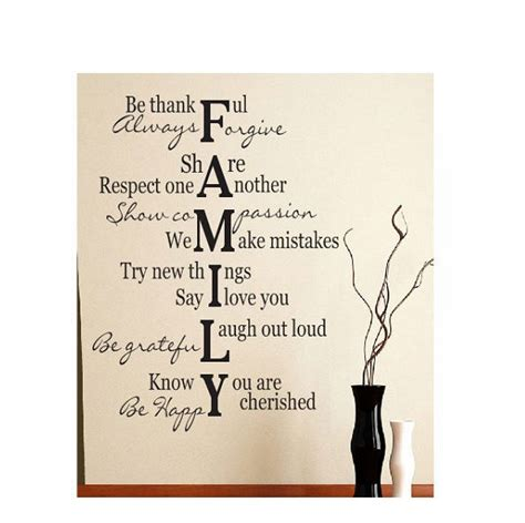 Wall Saying Stickers family verse quote vinyl art wall decal lettering words