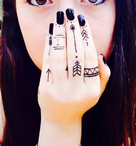 tribal tattoos for fingers tribal finger tattoos for design idea for and
