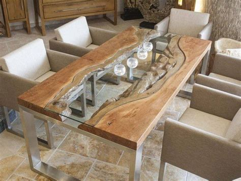 modern wood slab dining table best 25 glass dining table ideas on