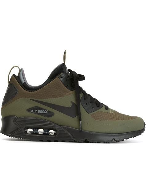 air max sneaker boots lyst nike air max 90 mid winter sneaker boots in green