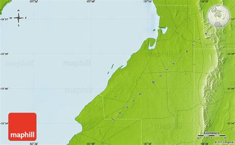 Section Maps South Australia by Physical Map Of Wallaroo