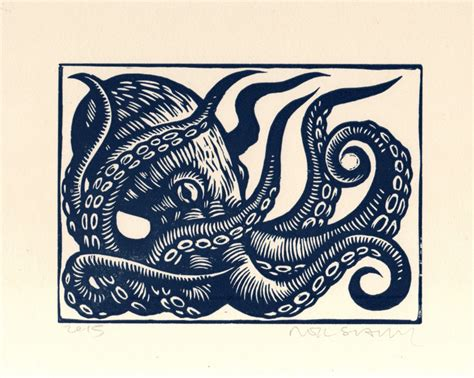 Nautical Decorations For The Home by Octopus Linocut Art Print Octopus Wall Art Octopus