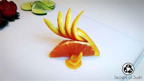 fruit garnish citrus garnish secrets of sushi
