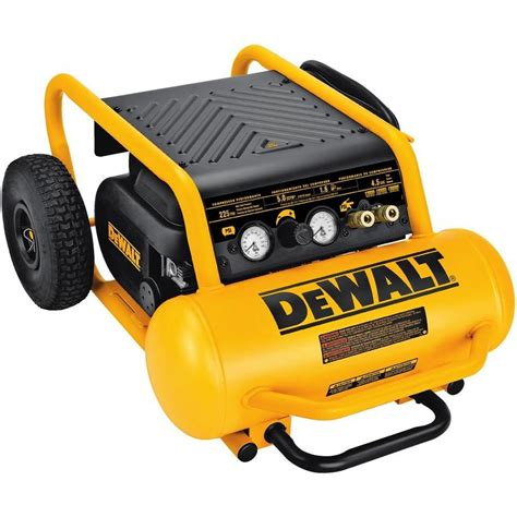 shop dewalt 4 5 gallon portable electric horizontal air