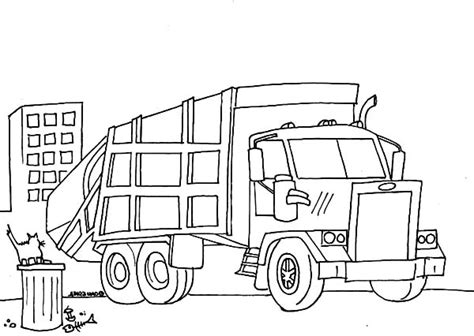 sweeper truck coloring page free coloring pages of garbage containers