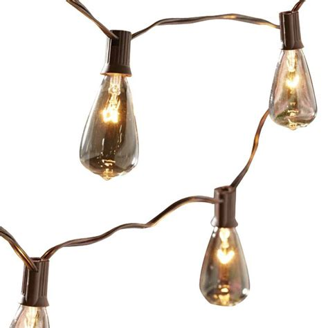 patio string lights lowes shop allen roth 14 ft brown indoor outdoor string lights
