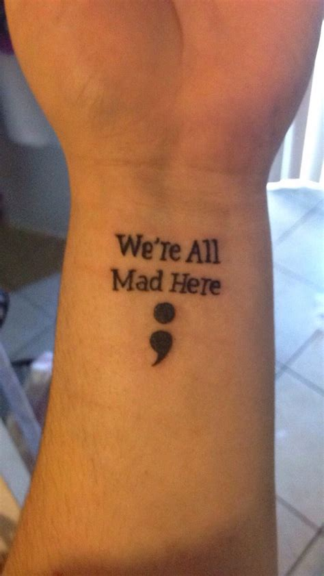 semicolon tattoos semicolon with in quote yelp