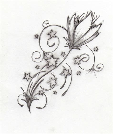 flowers n stars tattoo drawing photo 1 all tattoos for men