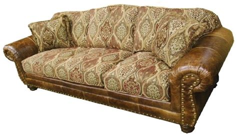 Sofa Leather And Fabric Combined Combination Leather And Fabric Sofas Hereo Sofa