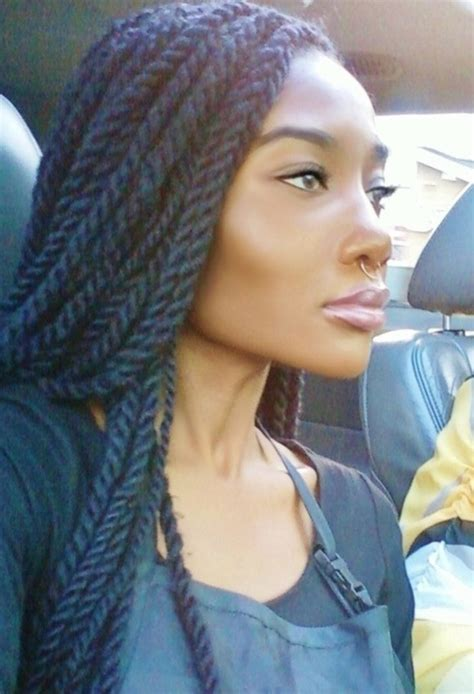 sengalese twists with marley hair marley twists braids twisted styles pinterest