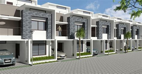 3d House Plans Indian Style uniworth tranquil row houses duplex apartments