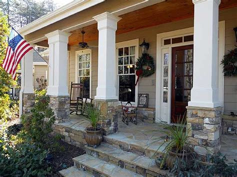 house plans with front porch columns rustic appeal with country front porch porches columns and front porches