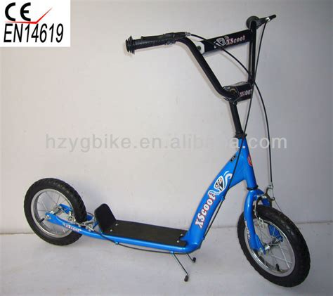kids scooter with big wheels new scooter 300mm bmx kickbike big wheel scooter steel