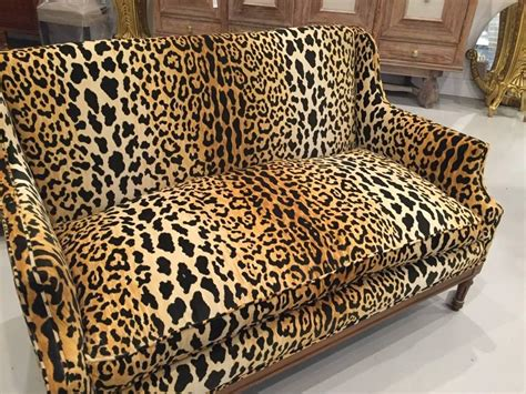sofa prints mid century leopard print sofa for sale at 1stdibs