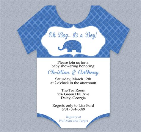 printable onesies invitations plaid elephant onesie baby shower invitation editable cutout