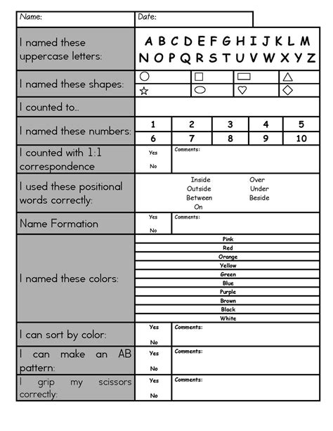 Parent Letter About Assessment me preschool assessments