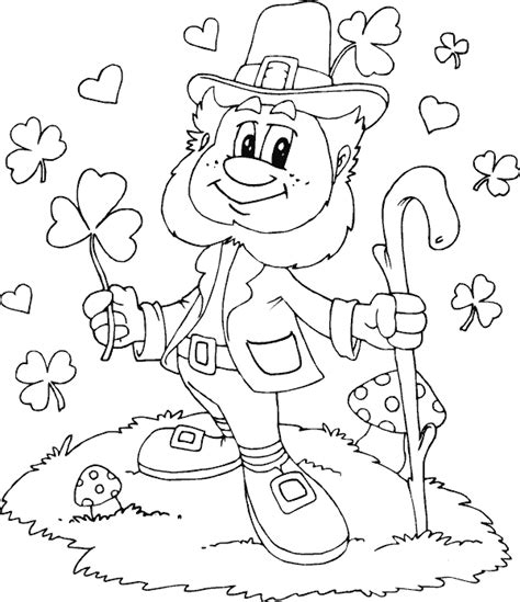 printable coloring pages leprechaun leprechaun shamrocks hearts coloring page coloring