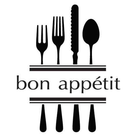 bon appétit bon app 233 tit modern utensils wall quotes decal