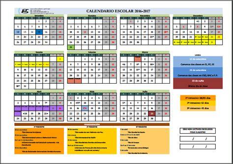 Calendario Escolar 2017 Galicia M 243 Nica Diz Orienta Calendarios Escolares 2016 2017 En